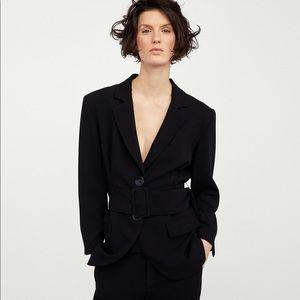 Zara black belted blazer